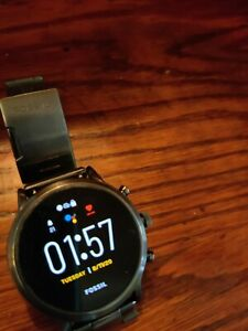 Fossil Gen 5 Carlyle Stainless Steel Touchscreen Smartwatch (Smoke)