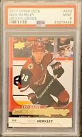2017 2018 UPPER DECK Nick Merkley YOUNG GUNS EXCLUSIVES RC ROOKIE PSA 9 #/100