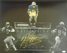 Jabrill Peppers Signed Autographed 16x20 Michigan Wolverines JSA