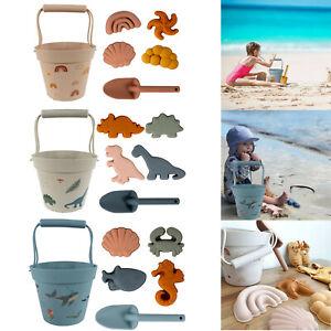 1 Set Kids Silicone Beach Beach Tool Sand Tool Set With Beach Bucket Sand Shovel