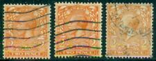 Great Britain Sg-366, Scott # 162, Used, Fine, 3 Stamps, Great Price