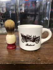 VINTAGE PACKARD SHAVING MUG WITH EVER READY BRUSH Razor Safety Gillette Straigh
