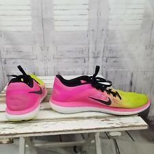 NikeAS IS running men pink yellow 11.5 shoe sneaker 844737-999 flex 2016 run