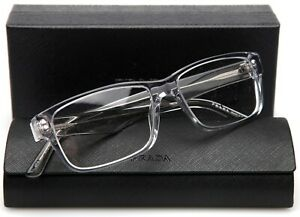 NEW PRADA VPR 16M U43-1O1 CLEAR EYEGLASSES 57-16-150 B36mm Italy