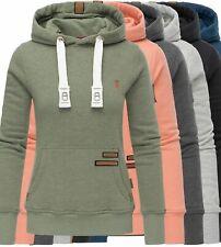 Navahoo Damen Hoodie Sweat Jacke FVSD Kapuzen Pullover Kordel Sweater Damlaa