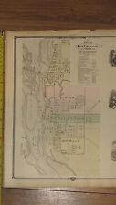1878 Atlas - Trempealeau County, Wisconsin Map ORIGINAL- WI La Crosse City plan