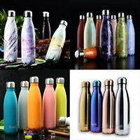 350-1000ml Stainless Steel Water Bottle Vacuum Insulated Chilly Sports Gym Flask