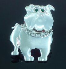 For Bulldog Dog Breed Lovers Super Cute Brooch Silver Plated  Pin- Brooch