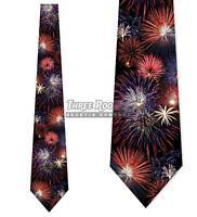 Fireworks Ties Fourth of July Tie Men's Patriotic Neck Ties Brand New