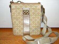 COACH 45536  Signature C JULIA Metallic Optic Art Swingpack Purse Crossbody Bag