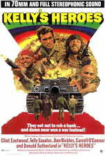 KELLY'S HEROES Movie POSTER 27x40 Clint Eastwood Donald Sutherland Telly Savalas