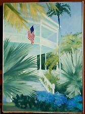 "Original Oil on Canvas ""Key West House"" Framed by Ross D Jahnig"
