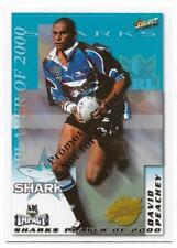 2001 Select Promotion Card (CP12) David PEACHEY Sharks