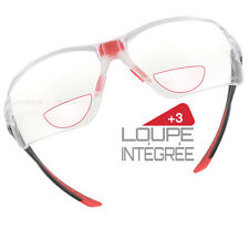 Lunettes loupe intégrée +3 Bollé Safety IRI protection dioptrie lecture IRIDPSI3