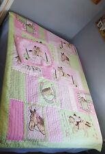 The Company Store Kids TWIN Quilt Bed Cover Plus Sham Equestrian Horse Show