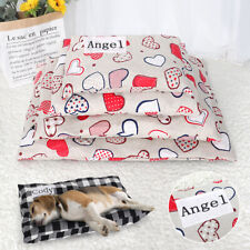 Personalized Cat Dog Bed Custom Pet Name Mat Washable Cover Sleep Kennel Cushion
