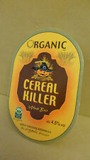 Organic Cereal Killer Wheat Ale Beer Pump Clip face Bar Pub Collectible