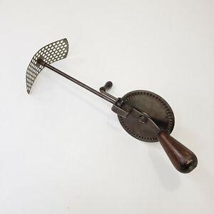 Dunlap Sanitary Cream & Egg Whip Silver Blade Hand Tool 1916