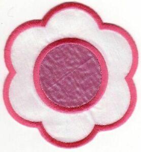 Fuchsia Rose Shinny Fleur Broderie Brassage