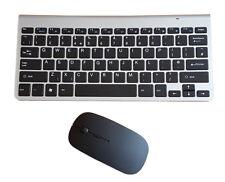 Wireless Keyboard and Mouse UK Layout USB Receiver Ultra Thin PC Windows Mac New