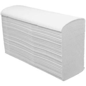 Papierhandtücher, W-Falz, weiß, 2-lagig, Zellstoff, 22,6x32cm, 2625 Stück