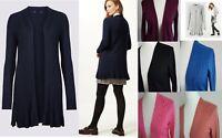 Ladies Womens M&S Cardigan Longline Ribbed Soft Knit Swing Cardi Size S-XL