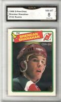 1988-89 O-Pee-Chee #122 Brendan Shanahan RC | Graded NM/MT 8