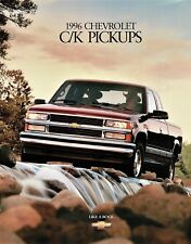 1996 Chevrolet Cheyenne Silverado C/K 1500 2500 3500 Pickup Truck Sales Brochure