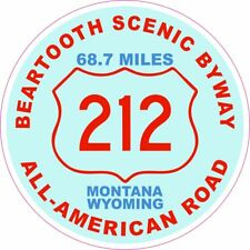 Beartooth Scenic Byway 212 Round Vinyl Decal Sticker