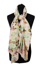 WALLIS Scarf One Size Pink Multicolour Butterflies Summer Holiday Wedding Races