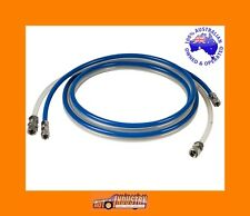 NEW TWIN PRESSURE POT HOSE SET 1.2mt JOINED PAINT / AIR HOSES, SOLVENT PROOF.