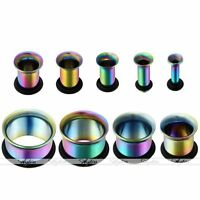 Pair Stainless Steel Hollow Flare Ear Flesh Plugs Tunnels Stretcher Punk Fashion