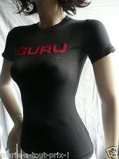 GURU TEE SHIRT NOIR INSCRIPTIONS ROUGE XS 34/36 NEUF !!