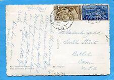 MONTECASSINO £.55+LAVORO £.40 ann.NAPOLI, 07.07.51 +manoscritto AIR MAIL(302529)