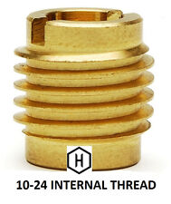 EZ-Lok P/N 400-3, 10-24 Threaded Brass Insert For Wood (25 Pieces)