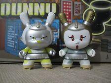 "◆Kidrobot 2013 POST APOCALYPSE DUNNY 3"" Pretty Geisha GOLD + WHITE Set HUCK GEE◆"