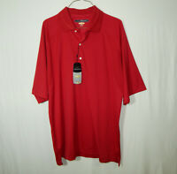 NWT Greg Norman Play Dry Short Sleeve Polo Golf Shirt Size LARGE L Mens Clothing