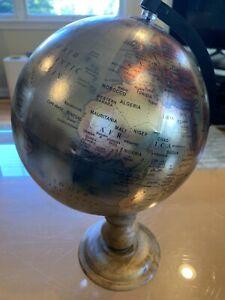 Metallic Globe  Decorative 8 X 14 Inch Rotating BJs With Box Tabletop