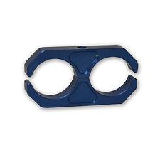 """CBM-10915 Billet shock reservoir clamp FOX BLUE bar 2.0"""" X 2.0"""" 2x2"""