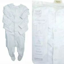 3 X MOTHERCARE WHITE  UNISEX COTTON  SLEEPSUITS  BABYGROWS TINY BABY TO 18-24