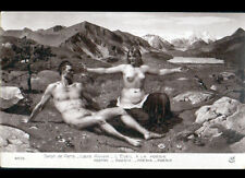 """ART PEINTURE / NATURISME FEMME en MONTAGNE """"NU"""" EVEIL à POESIE par Louis RIVIER"""