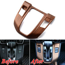 For Honda CRV CR-V 17-2018 Peach Wood Grain Interior Gear Shift Panel Cover Trim