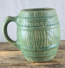 Antique Nelson McCoy Blue Wash Glaze Barrel Mug Shield 4 Mark