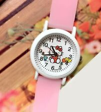 Girl Kid Children Cute Pink Hello Kitty Silicone Band Wrist band Watch Gift her