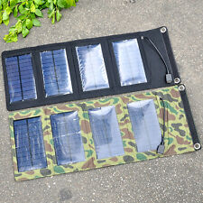 Portable Solar Charger Pack Kits Foldable 7W Solar Panel Charging Bag Camping