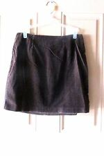 Old Navy Clothing Co Brown Velour Straight Skirt  Size 6