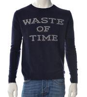 Pullover Mann Bob Company Central Pullover Bestickt Jersey Blau Neu