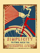 vintage retro style Simplicity is key poster image metal sign wall door plaque