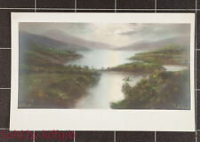 Lake and mountain scene postcard published by Charles Worcester & Co.Bristol