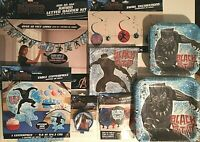 BLACK PANTHER Birthday Party Supply SUPER Kit w/Candle,Balloons & More !
